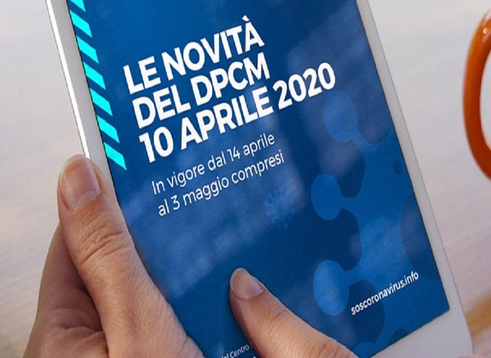 Coronavirus - DPCM 10 aprile 2020