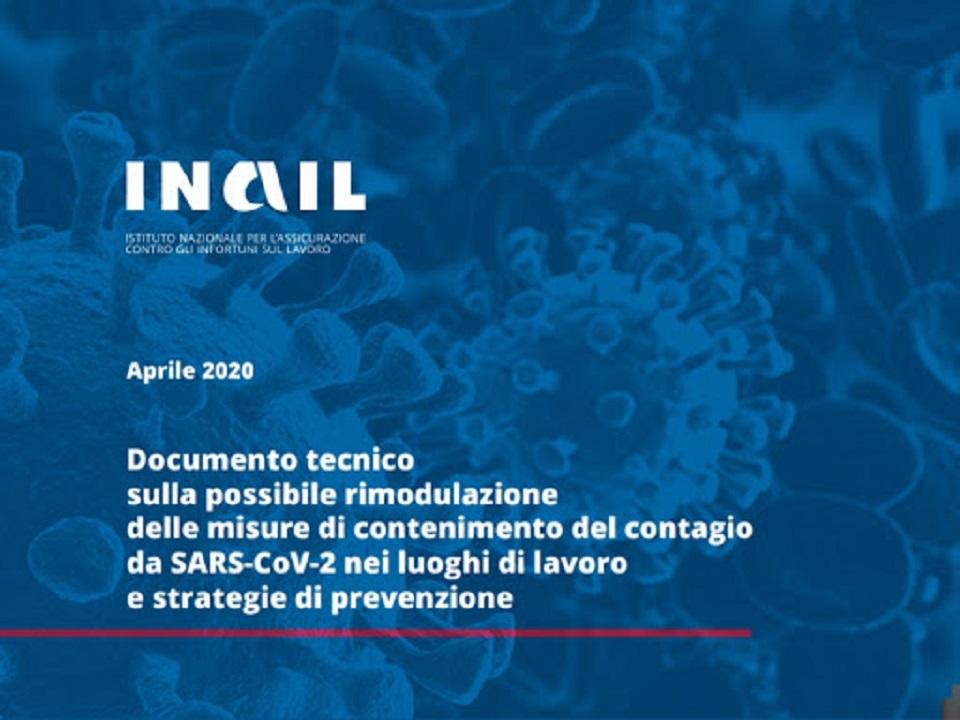 Confermato il documento INAIL con le misure di prevenzione per la Fase 2